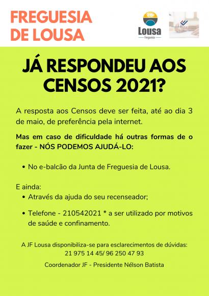 Já respondeu aos Censos 2021?