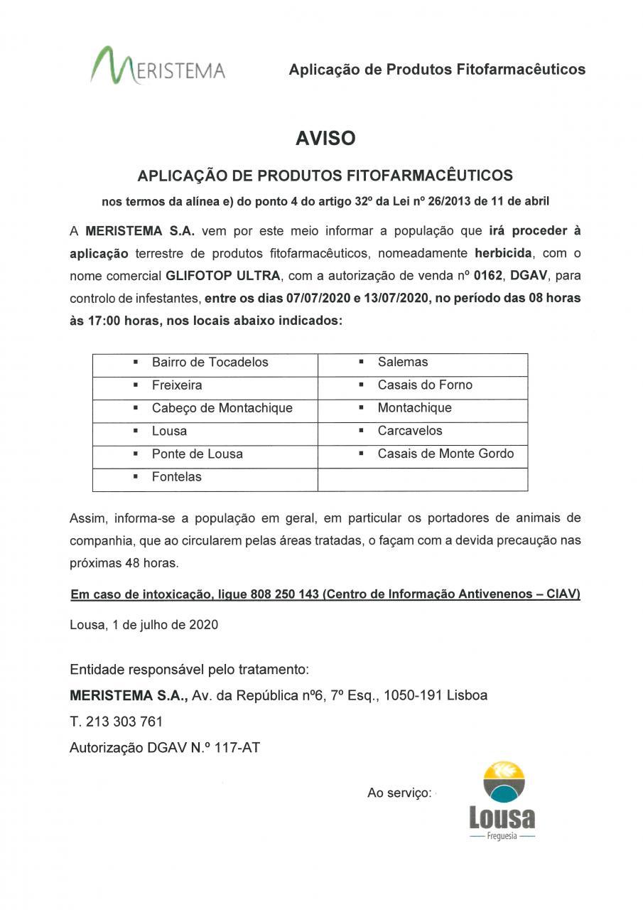 Aplicação de produtos fitofarmacêuticos